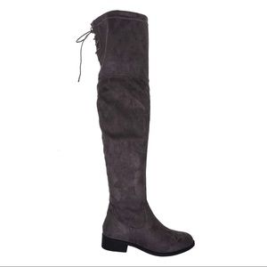 Pierre Dumas CITY Gray over the knee boots